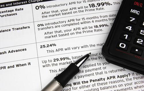 Credit Card Terms - Disclosure