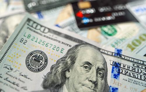 Credit card debt - 100 dollar bills - Credit cards