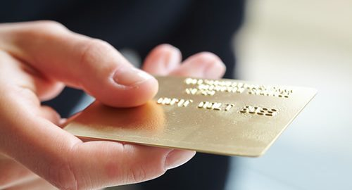Specialty gold credit card